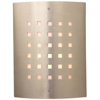 "PLC Lighting - Contemporary Outdoor Light Fixtures - CFL 9 1/4"" Exterior Light in Satin Nickel"