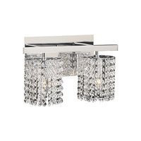 PLC Lighting - Contemporary Vanity Light Fixtures - Wall Light in Polished Chrome with Asfour Handcut Crystal