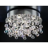 PLC Lighting - Contemporary Ceiling Lights - (7 light) Ceiling Light in Polished Chrome with Asfour Handcut Crystal