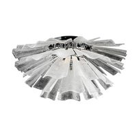 "PLC Lighting - Contemporary Ceiling Lights - 32"" Flush Mount Ceiling Light in Polished Chrome with Textured Frost Glass"