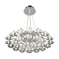 PLC Lighting - Contemporary Chandeliers - Chandelier in Polished Chrome with Asfour Handcut Crystal