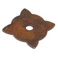 "Richelieu Hardware - Styles Inspiration VII - Forged Iron 1 3/16"" Long Knob Backplate in Rust"
