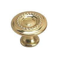 "Richelieu Hardware - Styles Inspiration XII - Solid Brass 1"" Diameter Bead Embossed Knob in Brass"