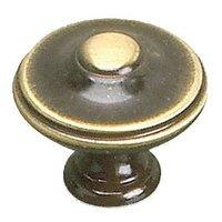 "Richelieu Hardware - Styles Inspiration X - Solid Brass 1 3/8"" Diameter Parisian Knob in Satin Bronze"