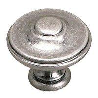 "Richelieu Hardware - Styles Inspiration X - Solid Brass 1 3/8"" Diameter Parisian Knob in Faux Iron"