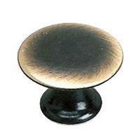 "Richelieu Hardware - Styles Inspiration XXVI - Solid Brass 3/4"" Diameter Flat Knob in Satin Bronze"
