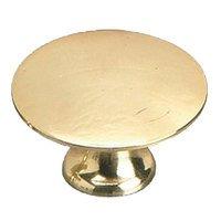 "Richelieu Hardware - Styles Inspiration XXVI - Solid Brass 1 3/8"" Diameter Flat Knob in Brass"