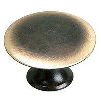 "Richelieu Hardware - Styles Inspiration XXVI - Solid Brass 1 3/8"" Diameter Flat Knob in Satin Bronze"