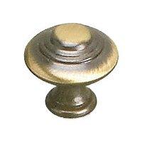 """Richelieu Hardware - Styles Inspiration X - Solid Brass 1"""" Diameter Marseille Knob in Satin Bronze"""