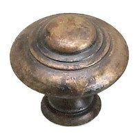 "Richelieu Hardware - Styles Inspiration X - Solid Brass 1 3/8"" Diameter Marseille Knob in Oxidized Brass"