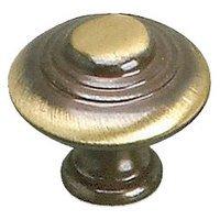 """Richelieu Hardware - Styles Inspiration X - Solid Brass 1 3/8"""" Diameter Marseille Knob in Satin Bronze"""