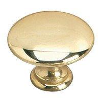 "Richelieu Hardware - Styles Inspiration XXVI - Solid Brass 1 3/8"" Diameter Dome Knob in Brass"