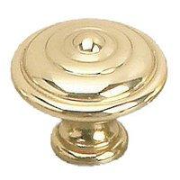 "Richelieu Hardware - Styles Inspiration X - Solid Brass 1 3/8"" Diameter Bordeaux Knob in Brass"