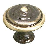"Richelieu Hardware - Styles Inspiration X - Solid Brass 1 3/8"" Diameter Bordeaux Knob in Satin Bronze"
