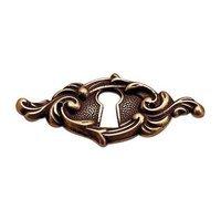"Richelieu Hardware - Styles Inspiration XXV - 2 13/32"" Long Elegantly Designed Escutcheon in Opaque Bronze"