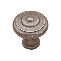 "Richelieu Hardware - Country Style Expression IV - 1 3/16"" Diameter Beaded Knob in Natural Iron"