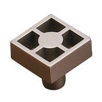 "Richelieu Hardware - Contemporary Inspiration XIX - 15/16"" Long Square Framework Knob in Brushed Nickel"