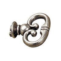 "Richelieu Hardware - Styles Inspiration XXIX - 1 7/32"" Long Beaded Decorative Mock Key in Pewter"