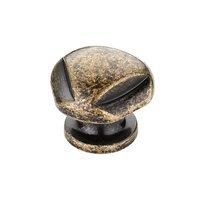 "Richelieu Hardware - Country Style Expression VIII - 1 1/8"" Diameter Craftsman Knob in Burnished Brass"