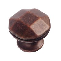 "Richelieu Hardware - Village Expression VII - 1 1/8"" Diameter Beveled Knob in Antique Copper"