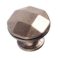 "Richelieu Hardware - Village Expression VII - 1 1/8"" Diameter Beveled Knob in Faux Iron"