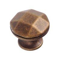 """Richelieu Hardware - Village Expression VII - 1 1/8"""" Diameter Beveled Knob in Burnished Brass"""