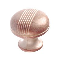 "Richelieu Hardware - Village Expression VIII - 1 1/4"" Diameter Knob with Etched Stripes in Inca"