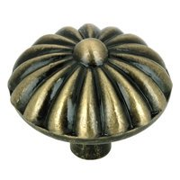 "Richelieu Hardware - Village Expression IV - 1 1/4"" Diameter Pinwheel Knob in Antique English"