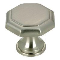 "Richelieu Hardware - Village Expression III - 1 1/8"" Diameter Octagonal Knob in Brushed Nickel"