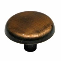 "Richelieu Hardware - Village Expression IV - 1 1/4"" Diameter Plain Knob in Antique Copper"