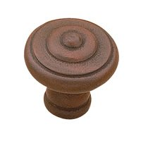 "Richelieu Hardware - Country Style Expression IV - 3/16"" Diameter Beaded Knob in Antique Rust"