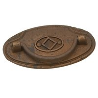 "Richelieu Hardware - Styles Inspiration XXIV - 2 1/2"" Centers Bail Pull with Backplate in Spotted Bronze"