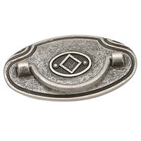 "Richelieu Hardware - Styles Inspiration XXIV - 2 1/2"" Centers Bail Pull with Backplate in Old Silver"