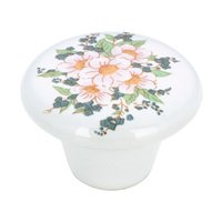 "Richelieu Hardware - Country Style Expression XIII - 1 1/2"" Diameter Painted Ceramic Knob in Flower Bouquet"