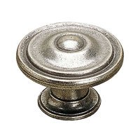 "Richelieu Hardware - Styles Inspiration XIX - 1 3/16"" Diameter Ball-and-Rings Knob in Pewter"