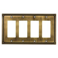 Richelieu Hardware - Switchplates - Traditional Quadruple GFI/Decora in Antique English