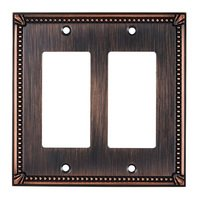 Richelieu Hardware - Switchplates - Traditional Double GFI/Rocker in Brushed Oil Rubbed Bronze