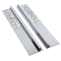 """Richelieu Hardware - Casablanca - 12 5/8"""" Center Handle and Plate (Set of 2) in Chrome"""