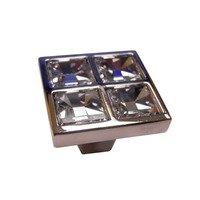 "Richelieu Hardware - Swarovski Crystal - 1 1/16"" Long Transitional Swarovski Crystal Knob in Polished Chrome With Crystal"