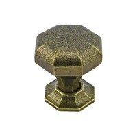"""Richelieu Hardware - Catanzaro - 1 1/4"""" Round Transitional Cast Iron Knob in English Bronze"""