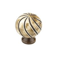 "Richelieu Hardware - Vegas - 1 3/8"" Round Eclectic Plastic Knob in Chocolate"