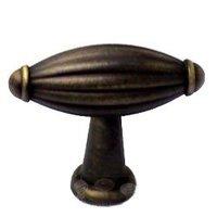 RK International - Antique English - Small Indian Drum Knob in Antique English