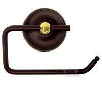 RK International - Light Plain Design - One Arm Contemporary Tissue Paper Holder in Two-Tone Oil Rubbed Bronze and Brass