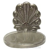 RK International - Peacock Design - Soap Dish in Satin Nickel