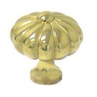 RK International - Polished Brass - Small Melon Knob in Polished Brass