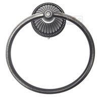 RK International - Beaded Bell Design - Towel Ring in Distressed Nickel