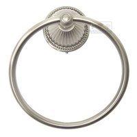 RK International - Beaded Bell Design - Towel Ring in Satin Nickel