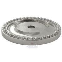 "RK International - Polished Nickel - 1 5/8"" Diameter Beaded Single Hole Backplate in Polished Nickel"