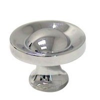 "RK International - Polished Chrome - 1 1/4"" French Contemporary Knob in Polished Chrome"