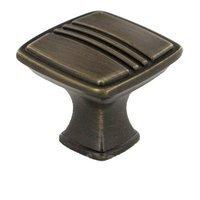 """RK International - Alder Design - 1 3/16"""" Knob in Brushed English"""
